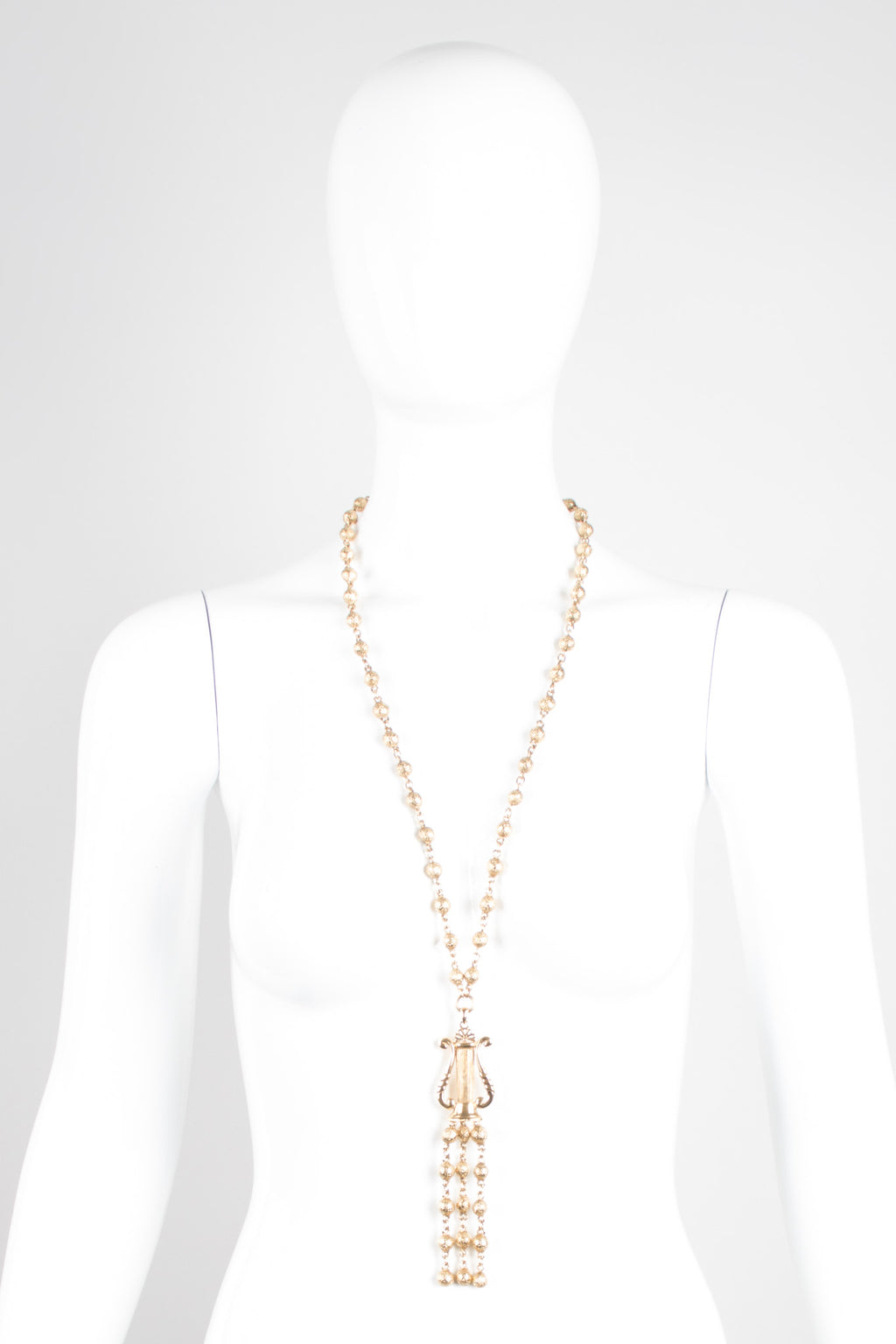 Rochas Angel Harp Rosary Y Necklace