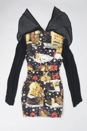 Moschino Panettone Christmas Fruit Cake Dress