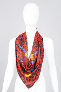 Queen of Hearts Celtic Blossom Bead Silk Scarf