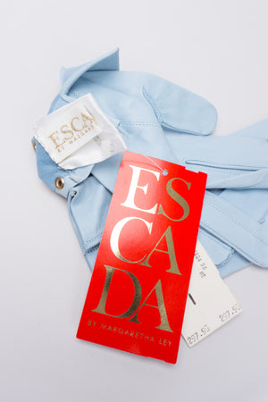 Escada New Gold Stud Leather Gloves