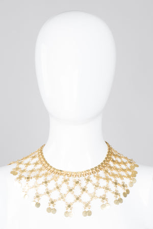 Vintage 60s Lattice Mesh Necklace and Earring Set