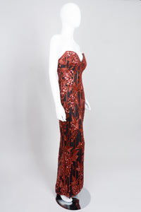 Bob Mackie Red Grapes Sequin Jessica Rabbit Gown