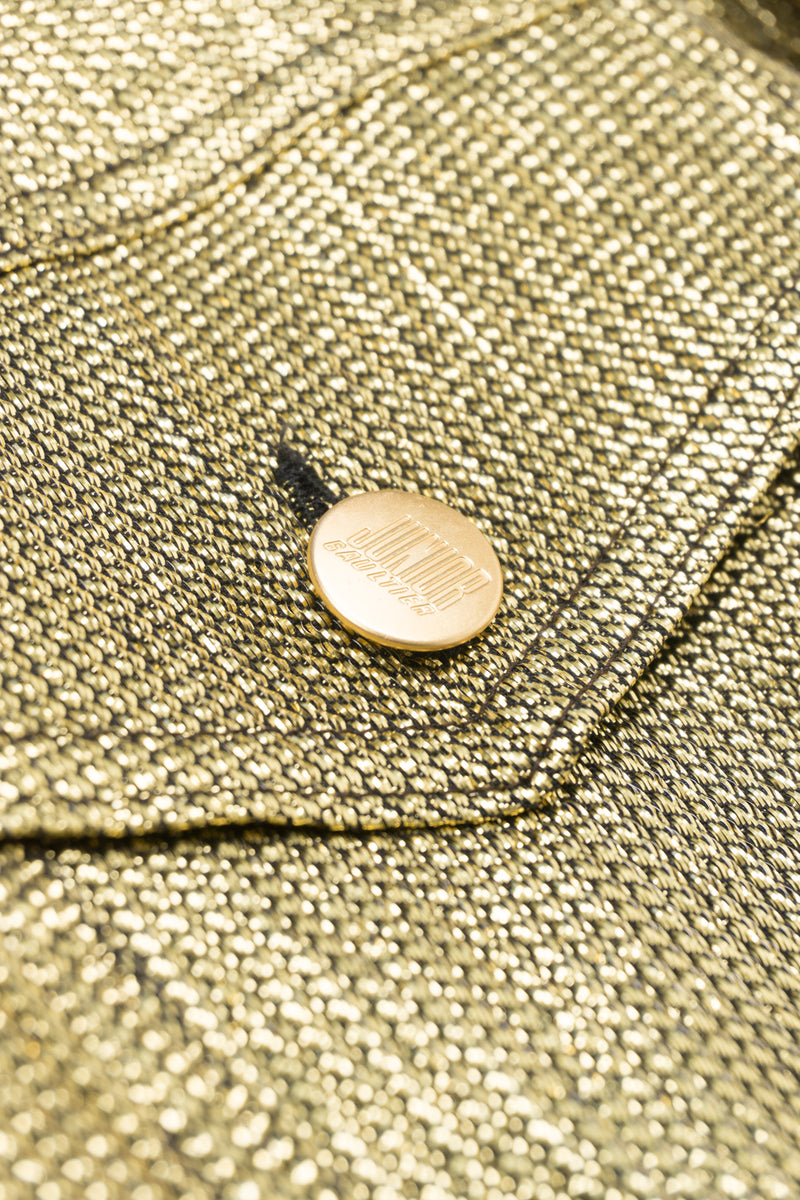 Jean Paul Gaultier Junior Gaultier Metallic Gold Jean Jacket