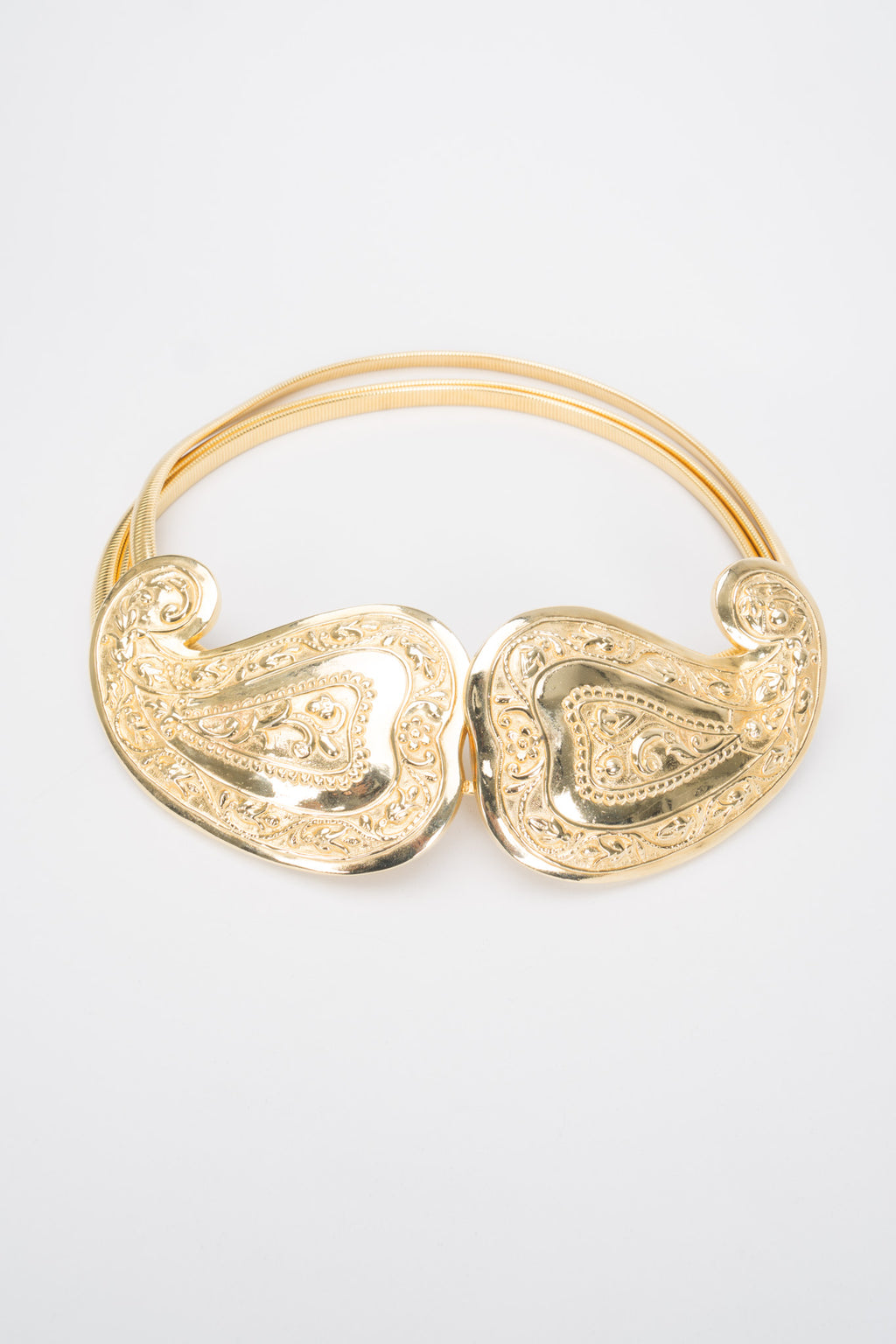Accessocraft Gold Paisley Buckle Belt