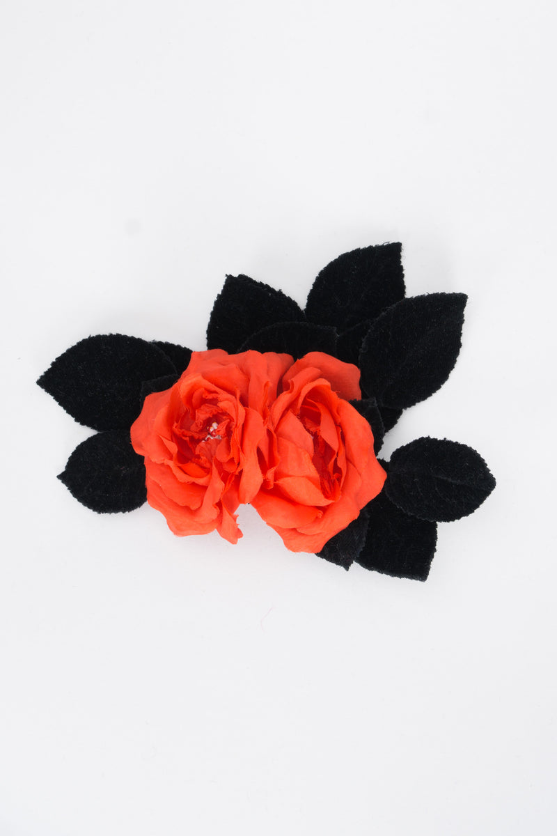 Givenchy Silk Velvet Flamenco Rose Flower Haircomb