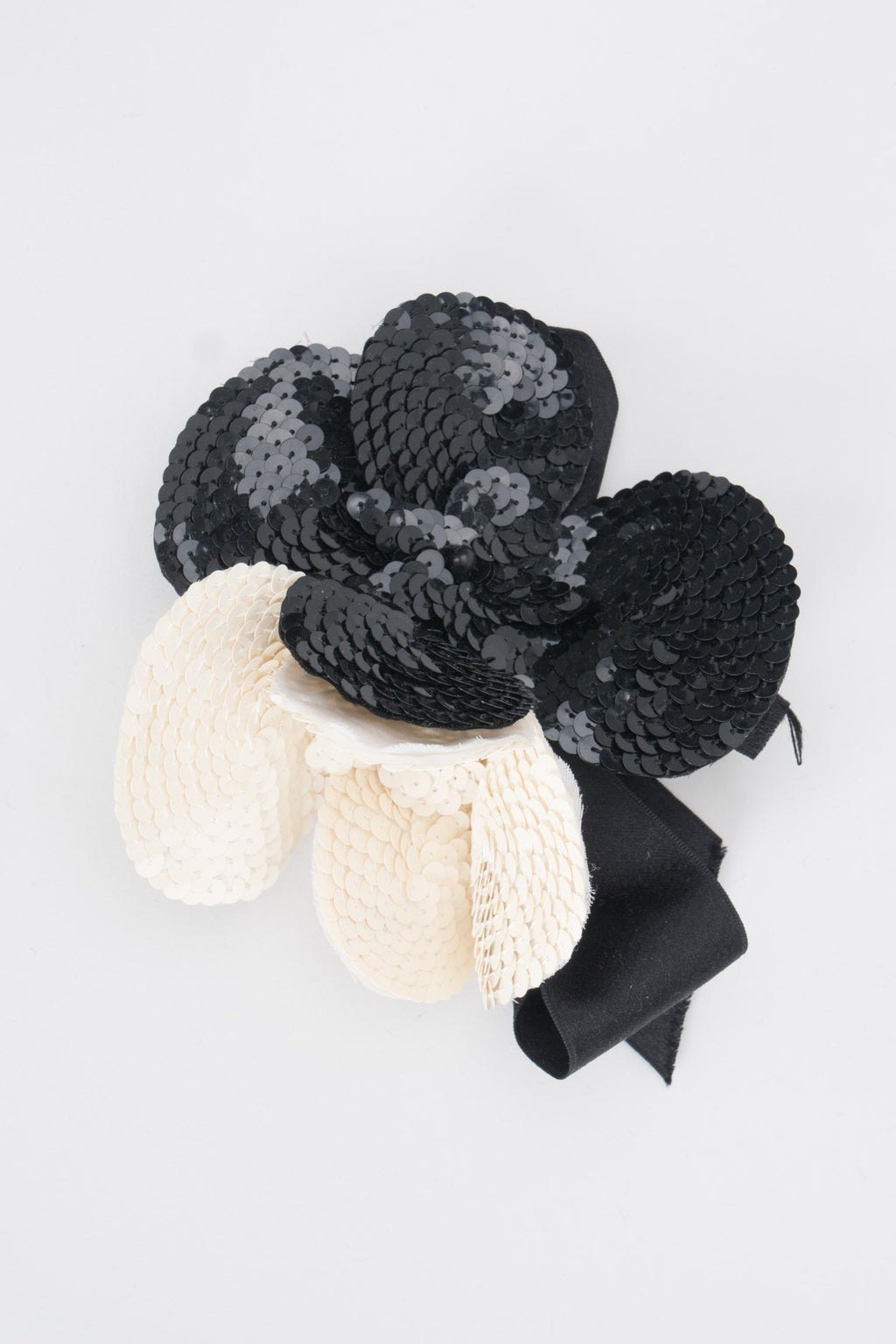 Givenchy Sequin Chanel Style Camellia Flower Haircomb