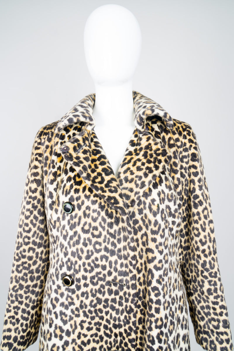 Glenbrook Long Faux Leopard Fur Coat