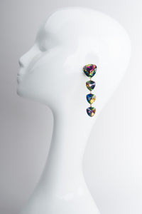 Wendy Gell Rainbow Trillion Unicorn Dust Drop Earrings