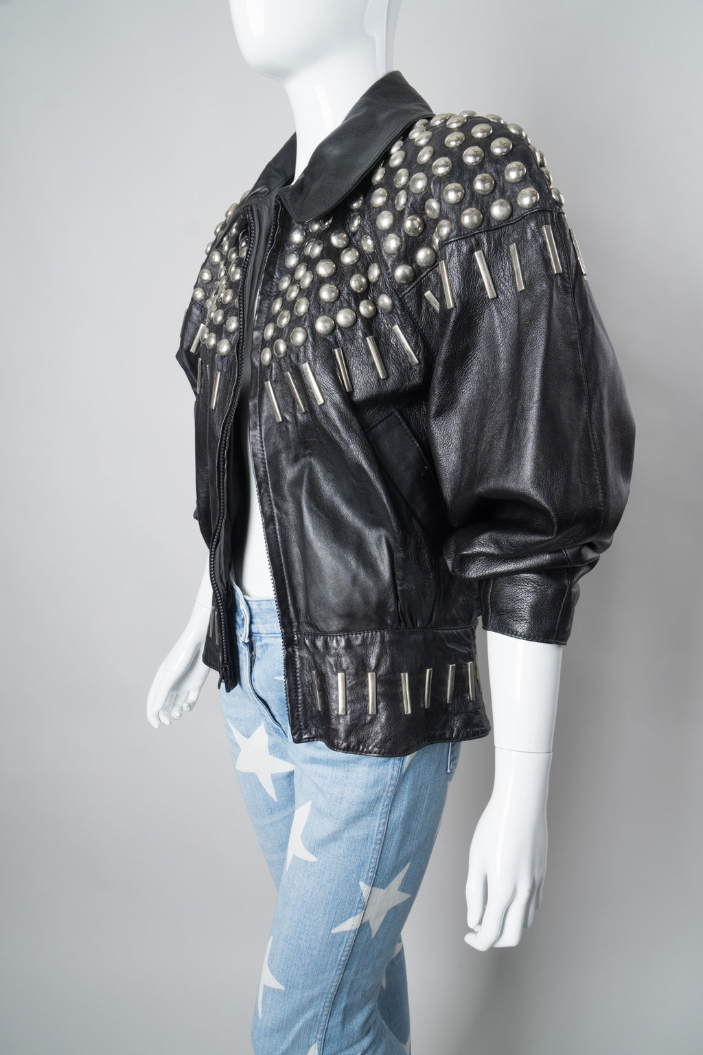 Begedor Dome Ball Stud Leather Jacket
