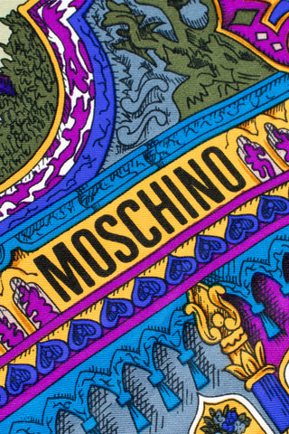 Moschino Moroccan Arabesque Parade Silk Scarf