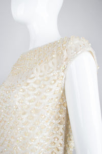 Bateau Neck Beaded Bridal Wedding Sleeveless Vintage Shell