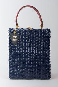 Lewis Woven Vinyl Plastic Basket Box Bag