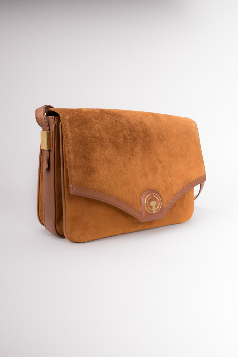 Lepanto 70s Rich Suede Shoulder Flap Bag
