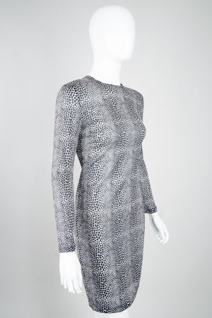 Gianni Versace 90s Sheer Silk Giraffe Dress