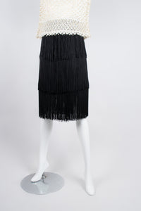 Bill Blass Tiered Fringe Flapper Skirt