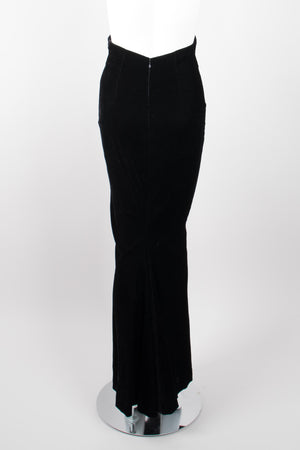 Donna Karan Ultra High Rise Empire Waist Velvet Mermaid Skirt