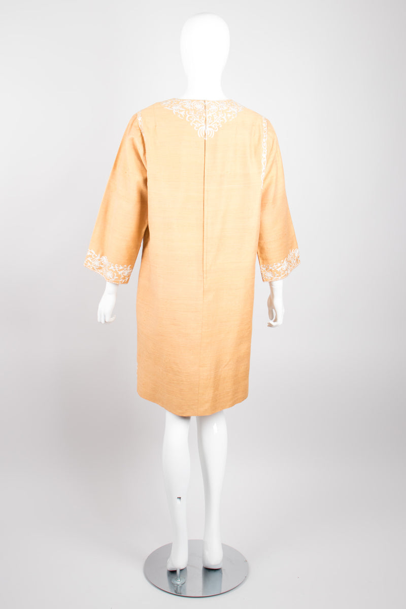 Dehliwala Vintage Lord & Taylor India Embroidered Silk Tunic Dress