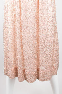 Victoria Royal Vintage Nude Bugle Bead Dress