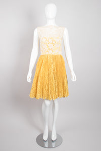 Vintage Crochet Lace Overlay Dress