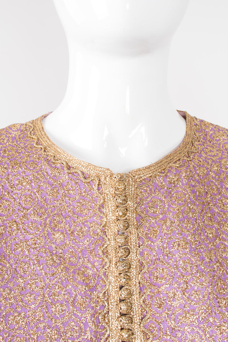 Au Chic Vintage Moroccan Golden Brocade Tunic