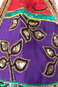 Victoria Royal Jewel Tone Embellished Halter Dress