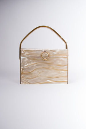 Stylecraft Miami Pearlescent Acrylic Lucite Vintage Box Bag