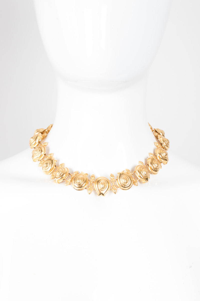 Fendi Artichoke Flower Collar Necklace