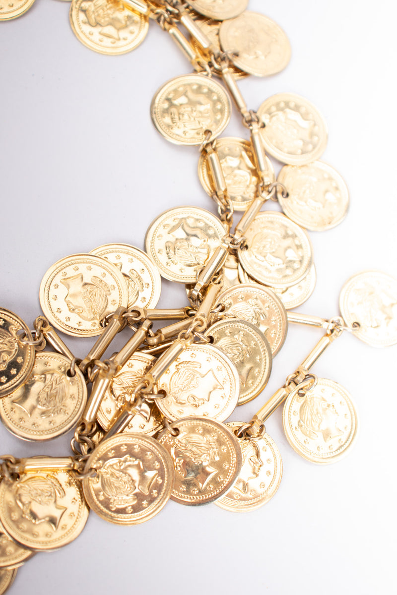 Vintage Long Coin Layering Necklace