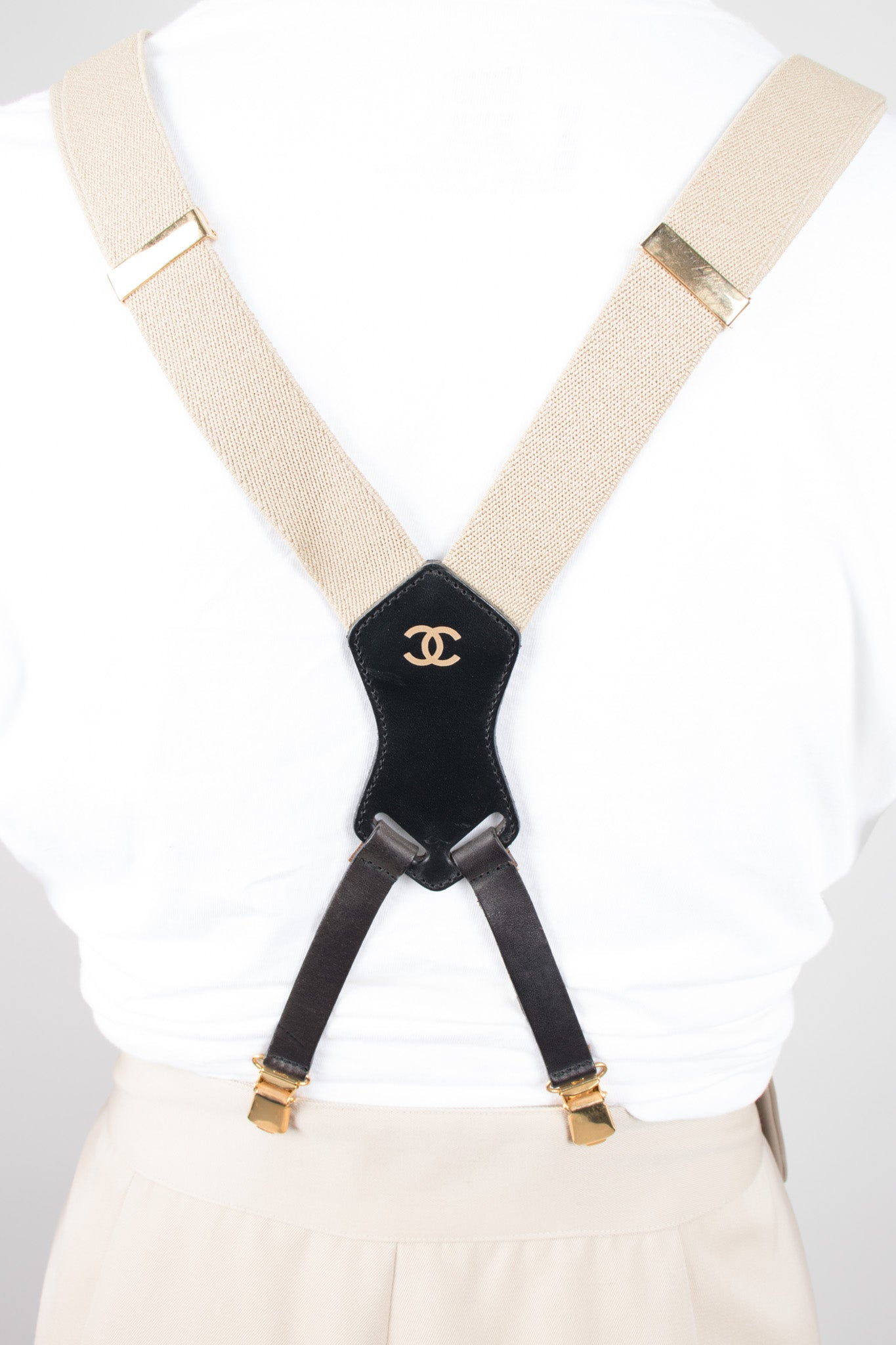 Tan Logo Suspenders