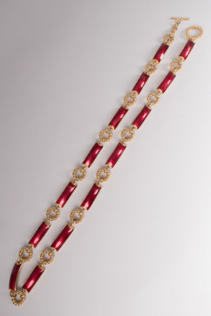 Gucci Vintage Enamel Toggle Braid Chain Belt