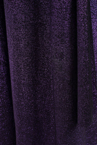 Giorgio Sant'Angelo Purple Reign Metallic Lamé Cape Dress
