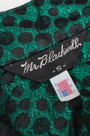 Mr. Blackwell Metallic Balloon Sleeve Swing Jacket