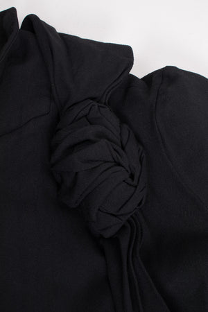 Comme des Garcons Knotted Scarf Collar A-Line Coat