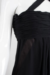 Chanel Empire Asymmetrical Chiffon Camelia Dress