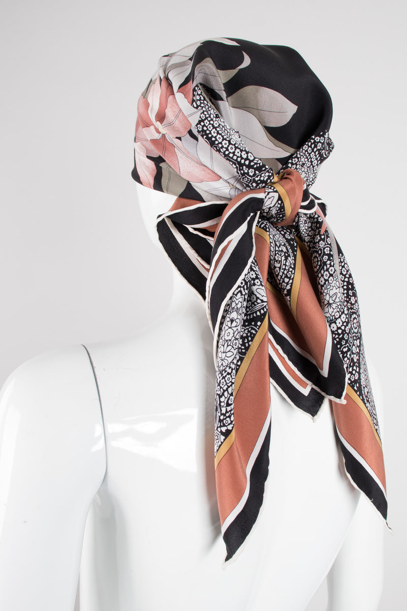 Leonard Neutral Shaded Floral Scarf Nagel
