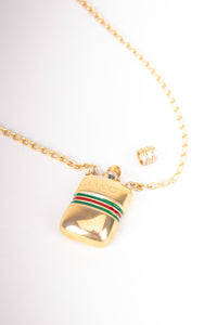 Gucci Vintage 1960s Perfume Bottle Pendant Necklace