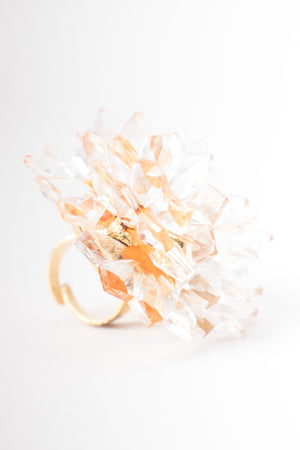 Alexis Lahellec Crystal Stalactite Flower Cocktail Ring