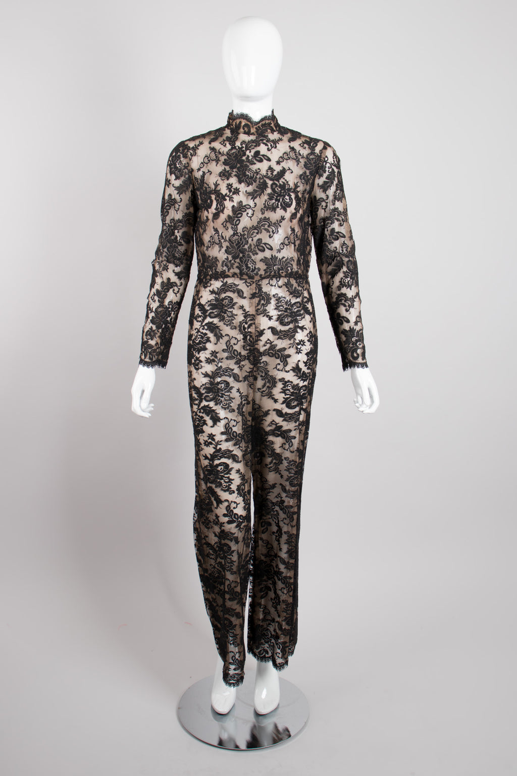 Helen Rose Sheer Lace Jumpsuit Catsuit