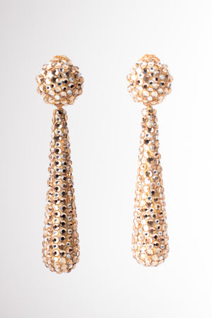Richard Kerr Crystal Baton Drop Wedding Bridal Earrings