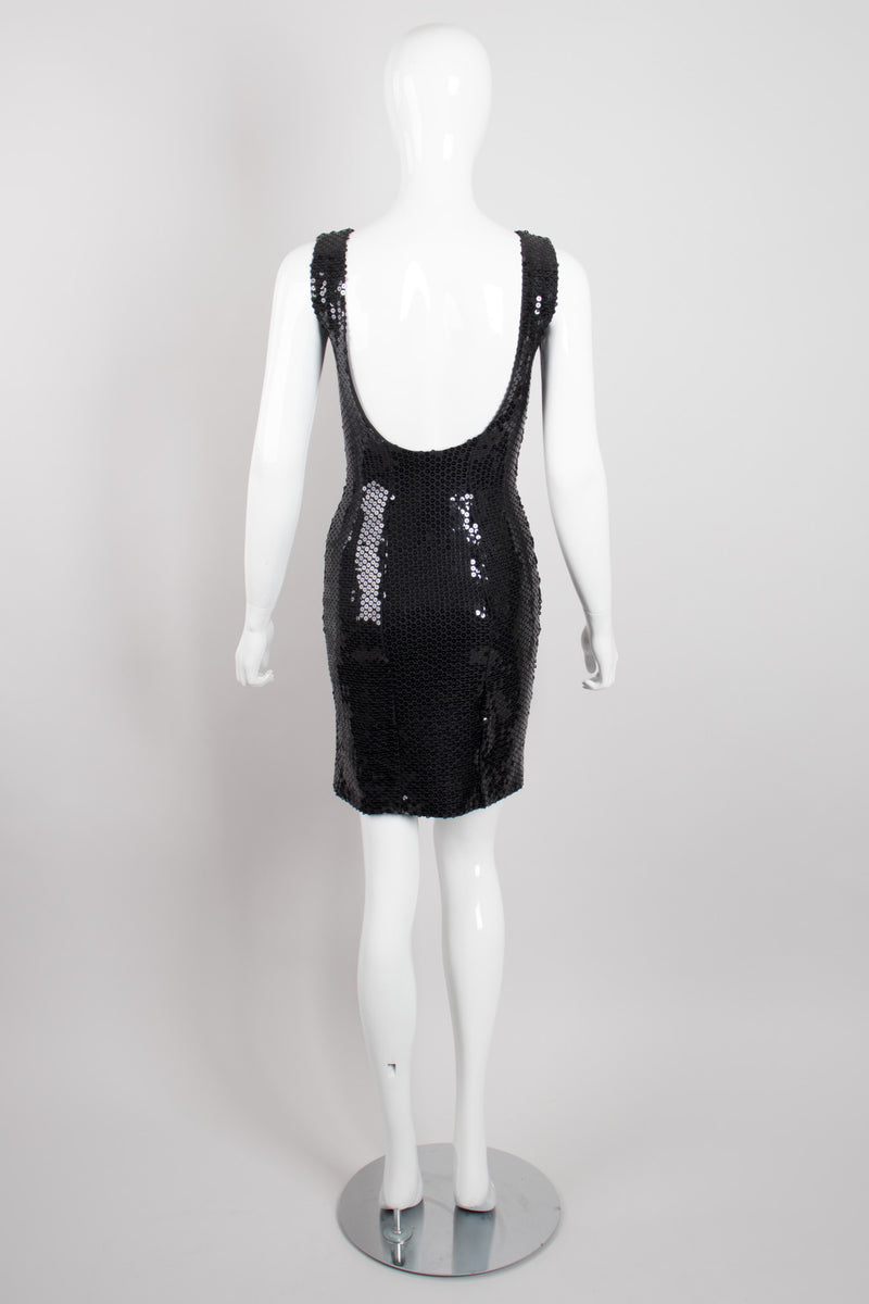 Franck Joseph Bastille Liquid Sequin Square Neck Minidress