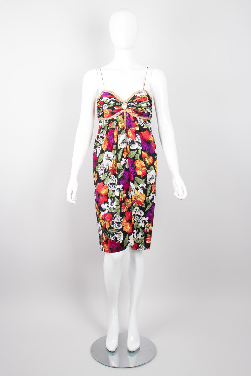 Rickie Freeman for Teri Jon Nites Floral Sweetheart Spaghetti Strap Dress