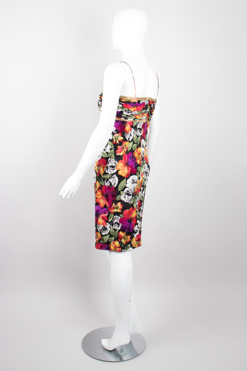 Teri Jon by Rickie Freeman Floral Sweetheart Spaghetti Strap Dress