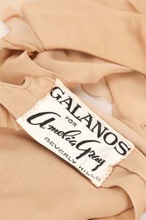 Galanos Silk Chiffon 3-Piece Ruffle Blouse Tank Skirt Set