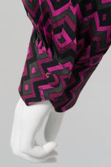 Pucci Vintage Geometric Chevron Striped Blouse