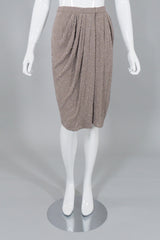 Anne Klein Vintage Beaded Silk Wrap Skirt