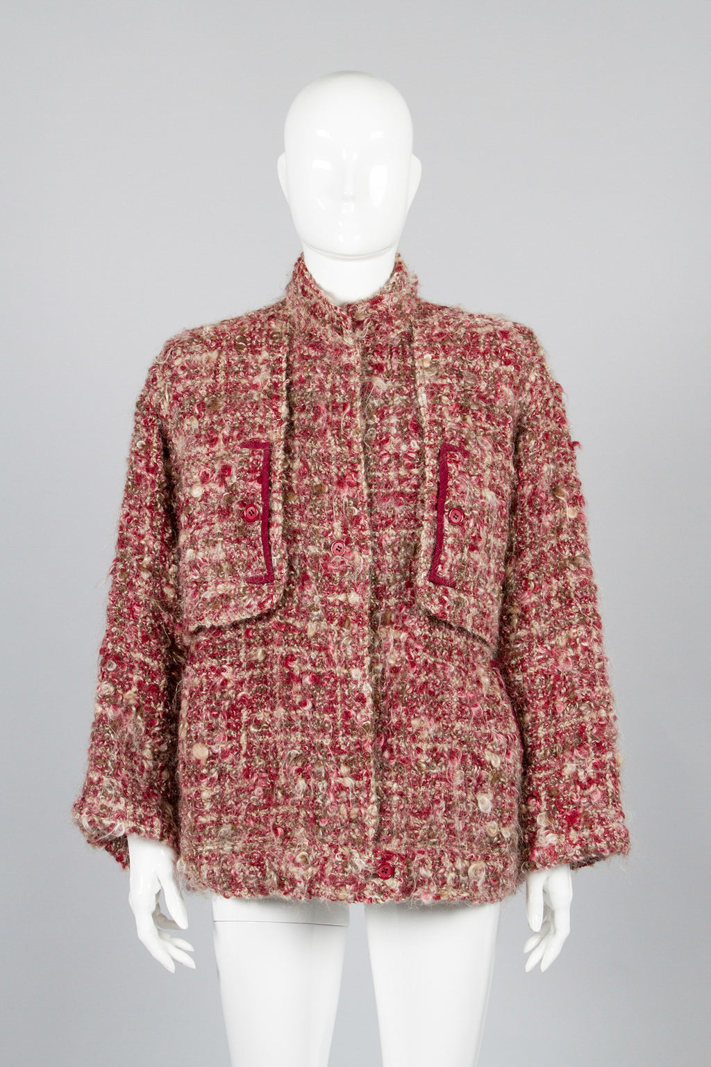 Galanos Boucle Mohair Jacket Front