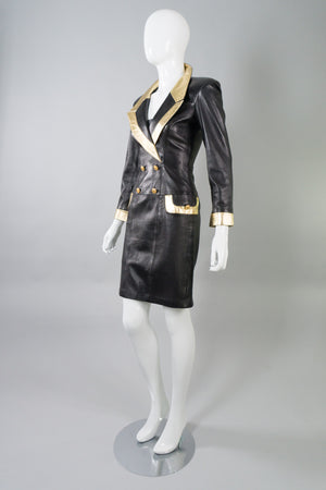 North Beach Leather by Michael Hoban Leather Blazer Dress