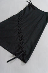 Ann Demeulemeester Vintage Wool Bias Cut Lace-Up Skirt