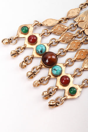 Recess Los Angeles Vintage Accessocraft Long Byzantine Cabochon Plate Necklace