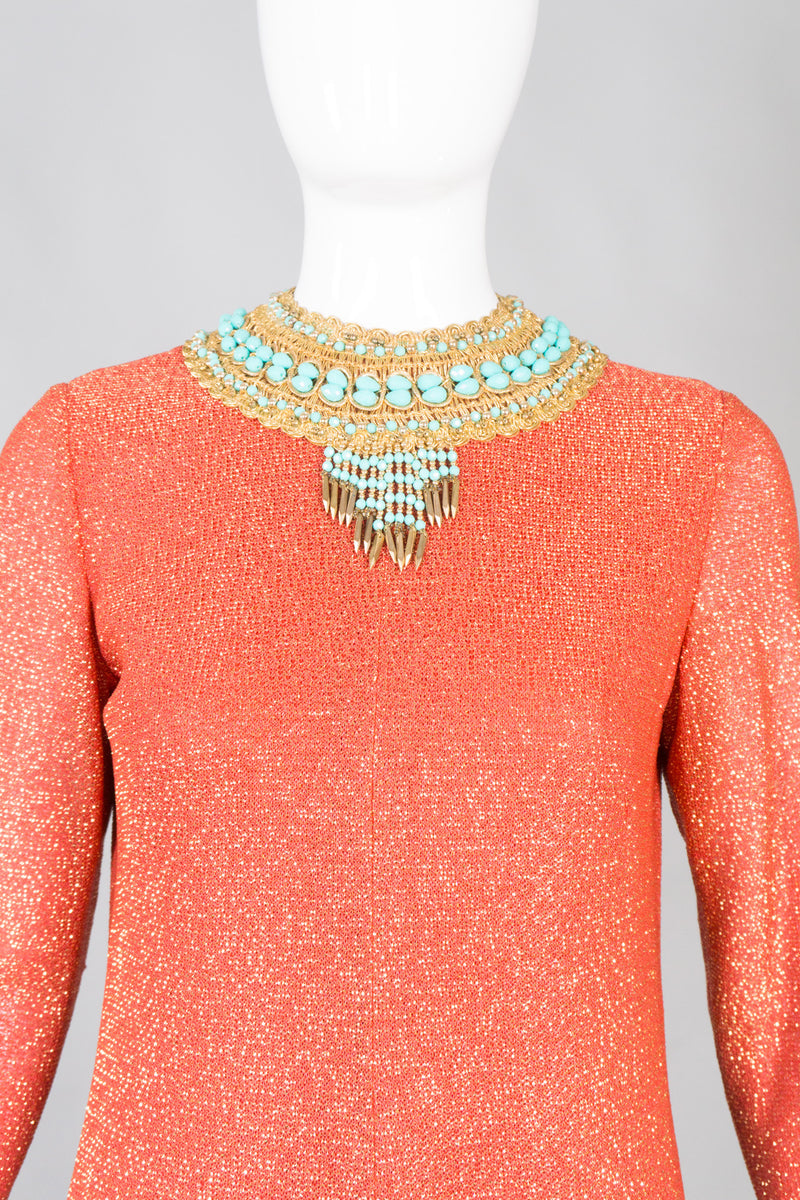 Adele Simpson Vintage Statement Necklace Dress